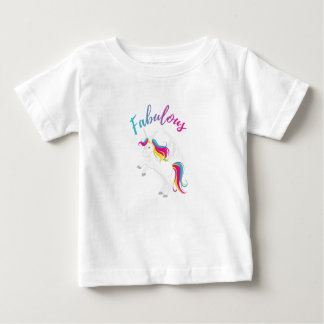 Fabulous Unicorn – Magical Rainbow Design - Baby Baby T-Shirt