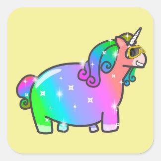 Fabulous Unicorn Square Sticker