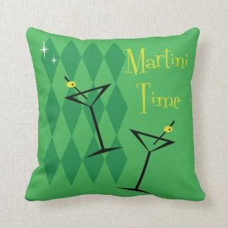 Fabulous Vintage Style Martini Throw Pillow