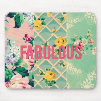 Fabulous vintage wallpaper collage mouse pad