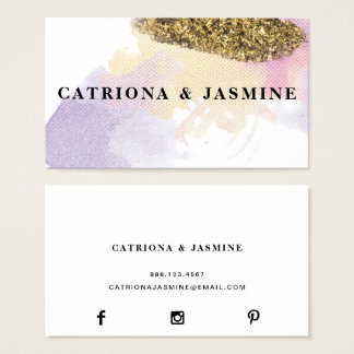 ★ Fabulous Watercolour Business Card