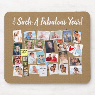 Fabulous Year Make Your Own Photo Cork Board Mouse Pad