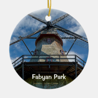 Fabyan Park Dutch Smock Mill Ceramic Ornament