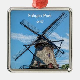 Fabyan Park Dutch Windmill Metal Ornament