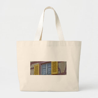 facade Alsatian houses of different colors Large Tote Bag