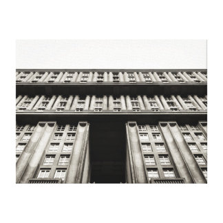 Facade of a monumental residential building canvas print