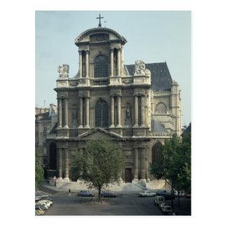 Facade of the Church of Saint-Gervais Postcard