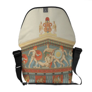 Facade of the Temple of Jupiter at Aegina (323-27 Messenger Bags