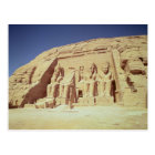 Facade of the Temple of Ramesses II Postcard