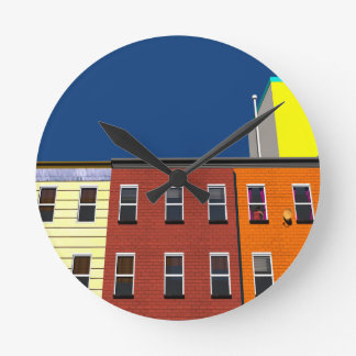 Facades of buildings in New York Clock