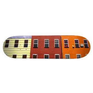 Facades of buildings of New York Skateboard Decks
