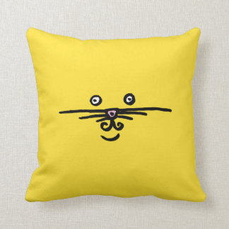 Face and Tail Throw Pillow