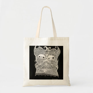 Face behind the lace tote bag