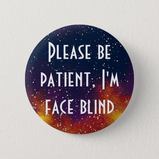 Face Blind Customizable Galaxy Identity 2 Inch Round Button