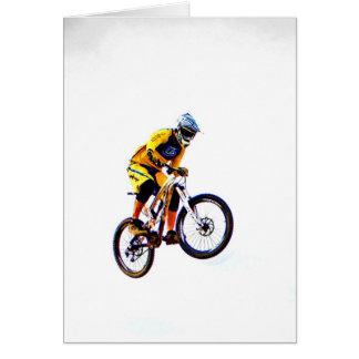 face challenging bravely utah Mountain biking Card