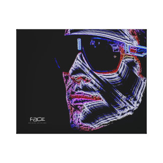 FACE - Digitally Artwork Jean Louis Glineur Canvas Print