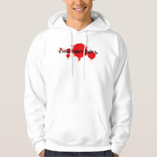 Face Down Dead White Hoodie