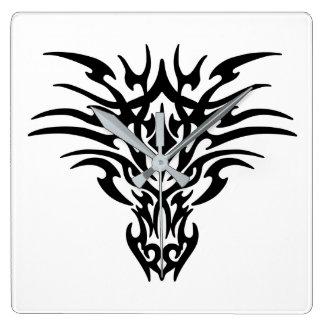 Face-Dragon-Tattoo Square Wall Clock