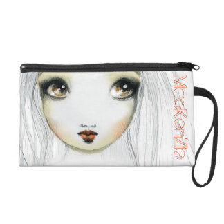 Face Illustration Wristlet