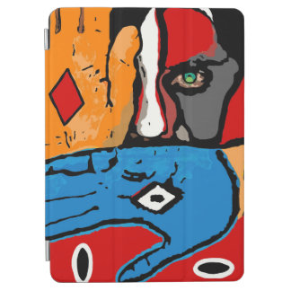 Face in blue and orange tablet ipad cover