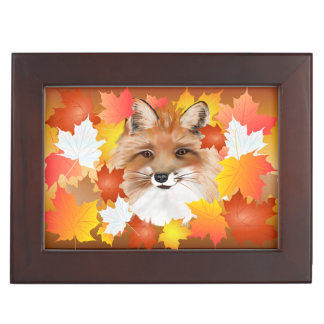 FACE in FALL-Fox eye view Keepsake Boxes