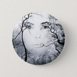 face-in-trees-illusion 2 inch round button