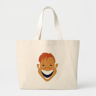 face laughing large tote bag