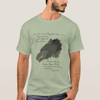 Face Like Flint: Gray Wolf for Light Shirts