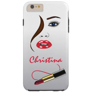 Face Lipstick Kiss Mirror Tough iPhone 6 6S Plus Tough iPhone 6 Plus Case