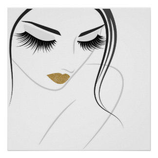 Face long lashes Lash Extension Poster