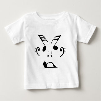 Face made up of musical notes baby T-Shirt