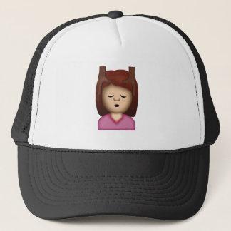 Face Massage Emoji Trucker Hat