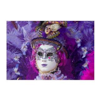 Face Of A Carnival Costume, Venice Acrylic Wall Art