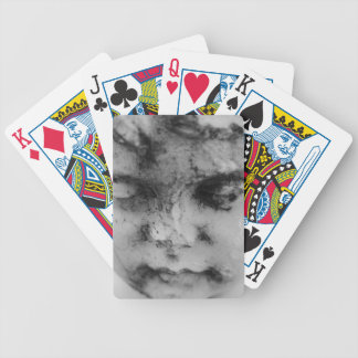 Face of a cherub bicycle playing cards