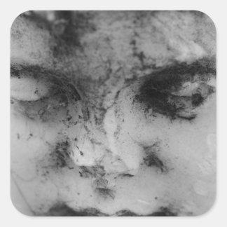 Face of a cherub square sticker
