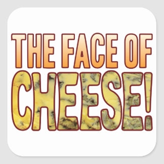 Face Of Blue Cheese Square Sticker