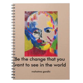 Face of Colors Mahatma Gandhi notebook