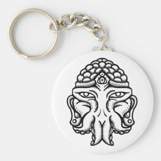 Face of Cthuda Basic Round Button Keychain