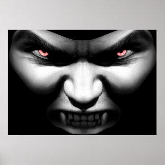 Face of Evil Vampire Poster Print