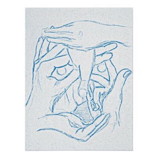 Face of Hands Poster