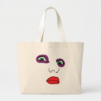 FACE OF HORROR LARGE TOTE BAG