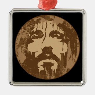 Face of Jesus Metal Ornament
