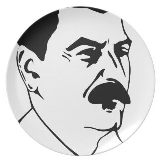 Face Of Joseph Stalin Plate