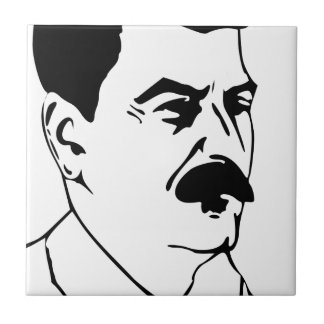 Face Of Joseph Stalin Tile