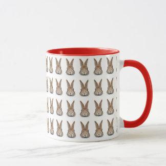Face of rabbit of 60 feathers mug