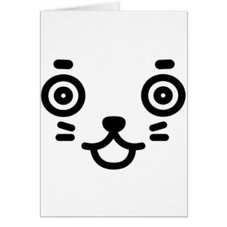 Face of raccoon dog card
