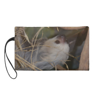 Face of Sloth Wristlet Clutch