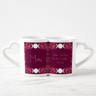 Face of the Goddess Wiccan Lesbian Lovers' Mugs