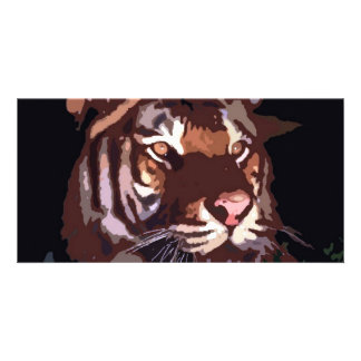 Face of Tiger Personalized Photo Card