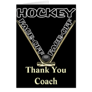 Face Off Hockey Greeting Card